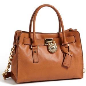 Handbags - Michael Kors Hamilton Satchel (camel)
